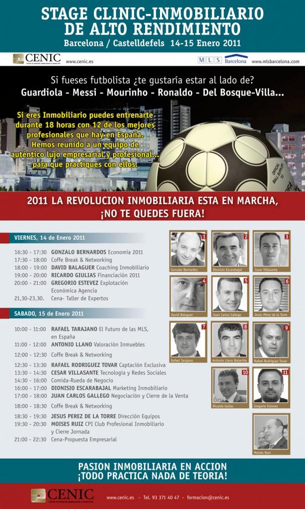 STAGE CLINIC INMOBILIARIO - BARCELONA 14,15 y 16 ENERO 2011 - 18 HORAS DE ENTRENAMIENTO PRACTICO
