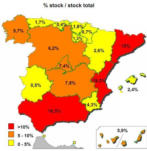 stock de viviendas por regiones