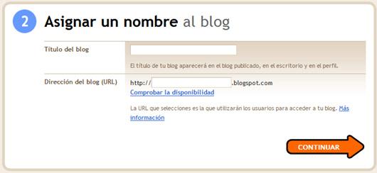 selección del nombre para el blog