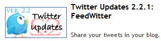 actualizaciones de twitter blogs