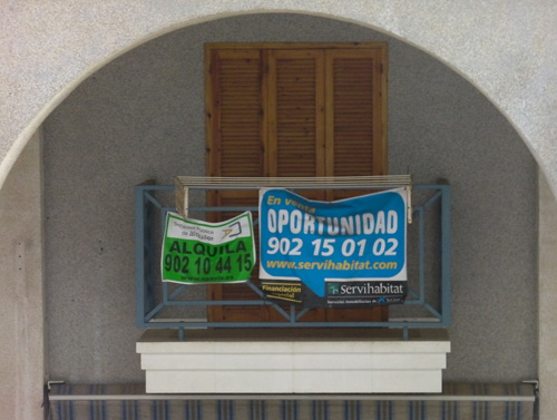 cartel de servihabitat, piso en venta en Torrevieja