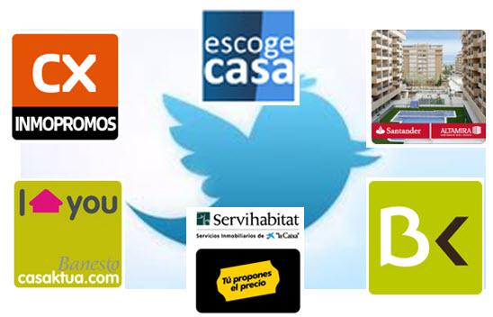 perfiles de inmobiliarias de bancos en twitter - inmoblog.com