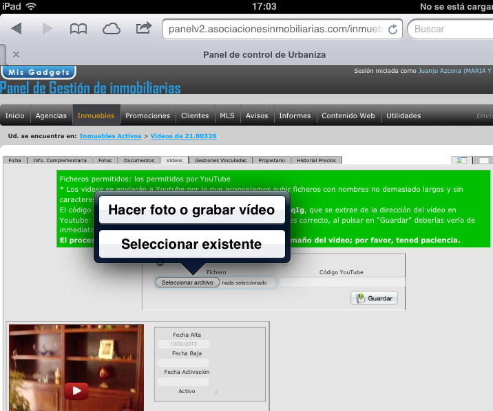 ipad-subir-video-inmueble