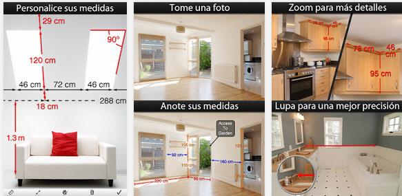 Aplicación inmobiliaria foto medidas vivienda