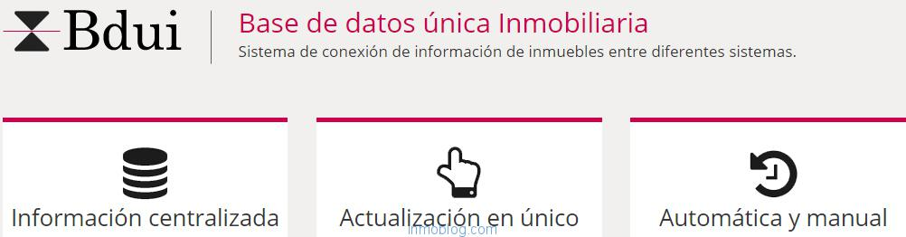 base de datos unica inmobiliaria
