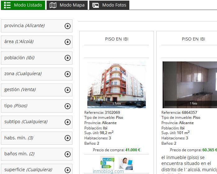 listados de pisos de bancos en venta