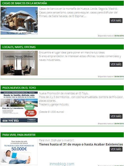 lista pisos bancos oferta