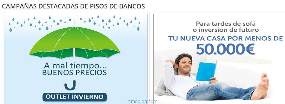 campañas de pisos de bancos