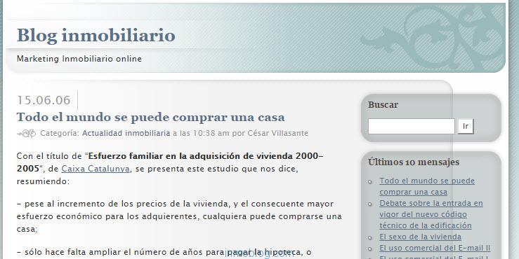 blog inmobiliario 2006