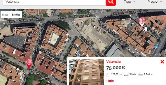 mapas satelite de pisos en valencia