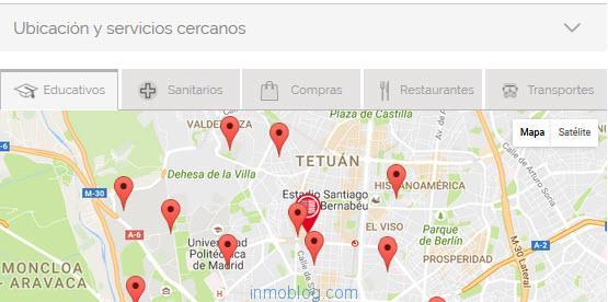 mapas servicios cercanos aam
