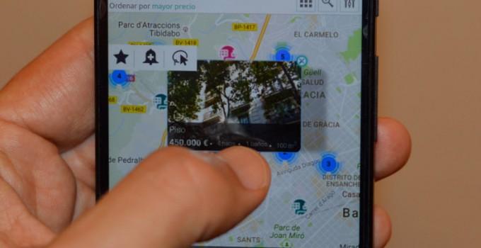busqueda sobre mapas vivendex inmobiliaria barcelona