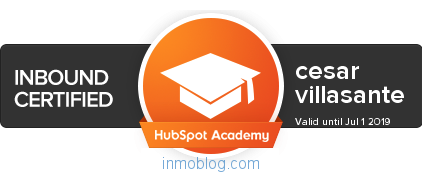 certificado hubspot cesar villasante inbound marketing