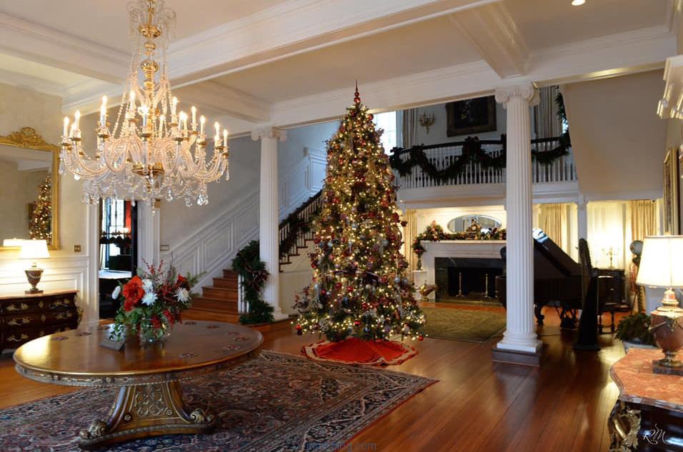 vivienda navidad decorada