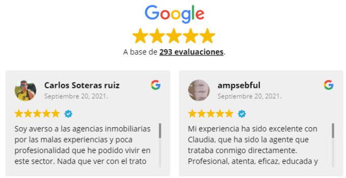 reseñas google inmobiliaria