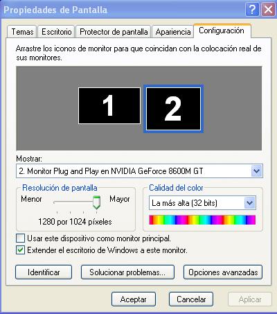 configuracion 2 pantallas monitor