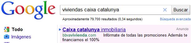 anuncio adwords viviendas caixacatalunya