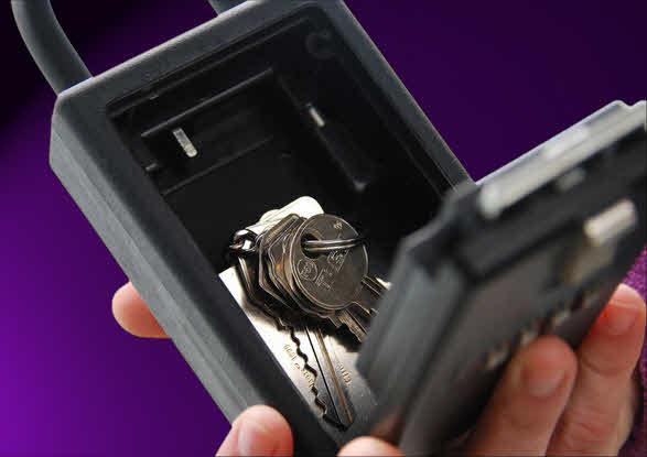 caja candado llaves visitas