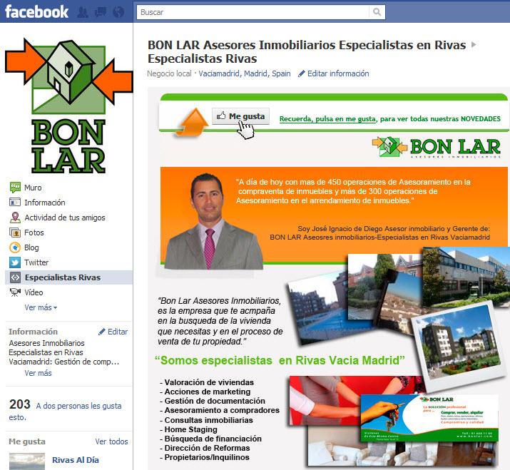 pagina empresa faceboo bon lar rivas servicios inmobiliarios