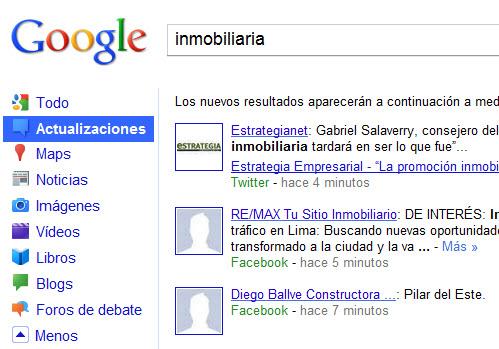 google social media en sus busquedas