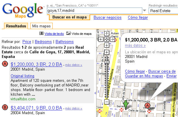 google maps real estate buscador de pisos con mapas