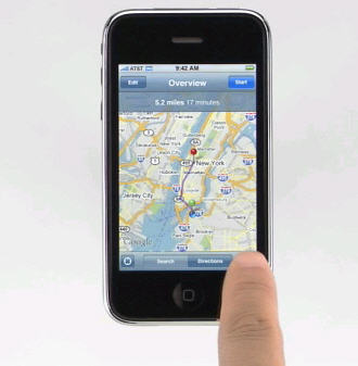 iphone mapas gps