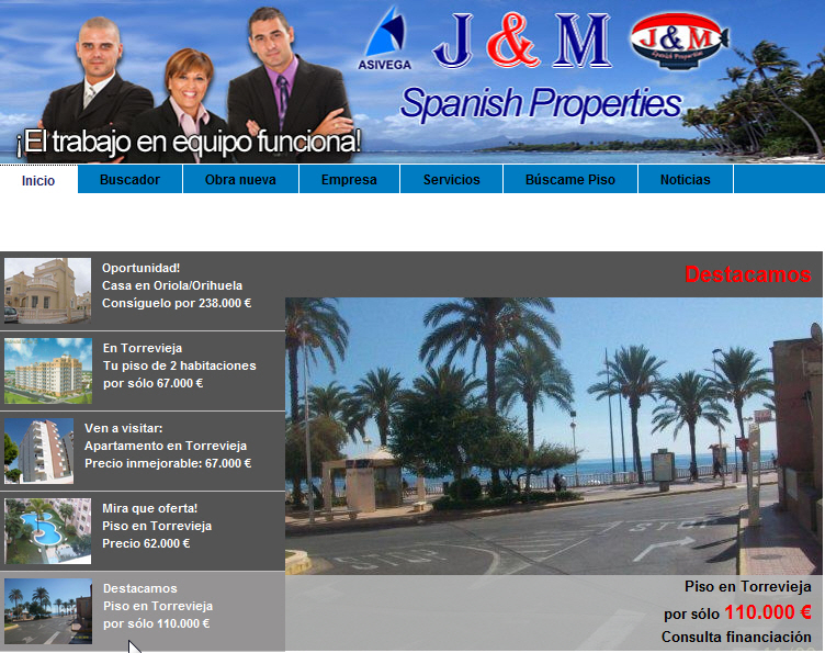 j&M Spanish Properties slideshow pisos torrevieja