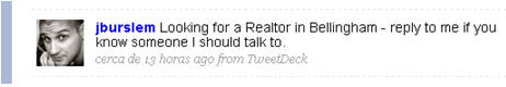 twitter buscando agente inmobiliario