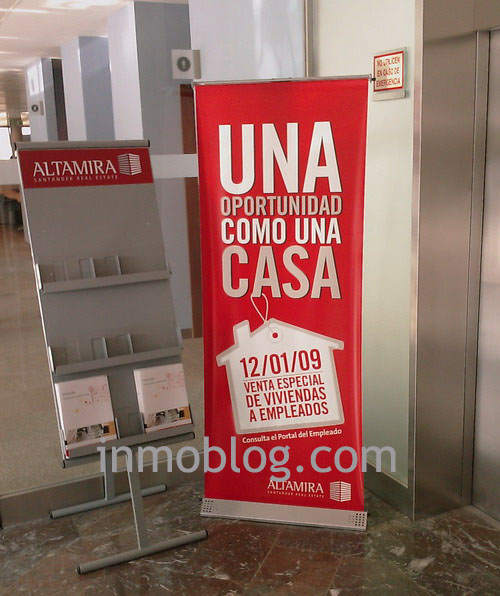 cartel anunciador altamira santander real estate