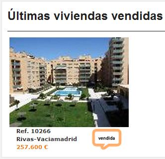pisos vendidos en la web