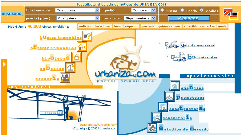 primera homepage de urbaniza mayo 2000