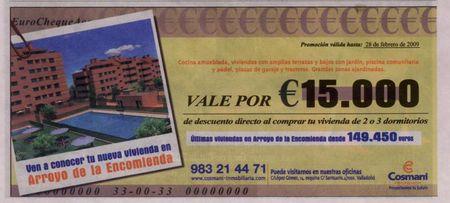 vale por 15000 euros en la compra de vivienda de obra nueva
