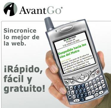 AvantGo contenidos PDA